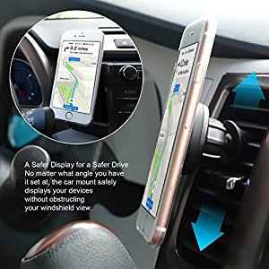support t l phone voiture magn tique brainwizz 360 vent magnet aimant universel fixation. Black Bedroom Furniture Sets. Home Design Ideas